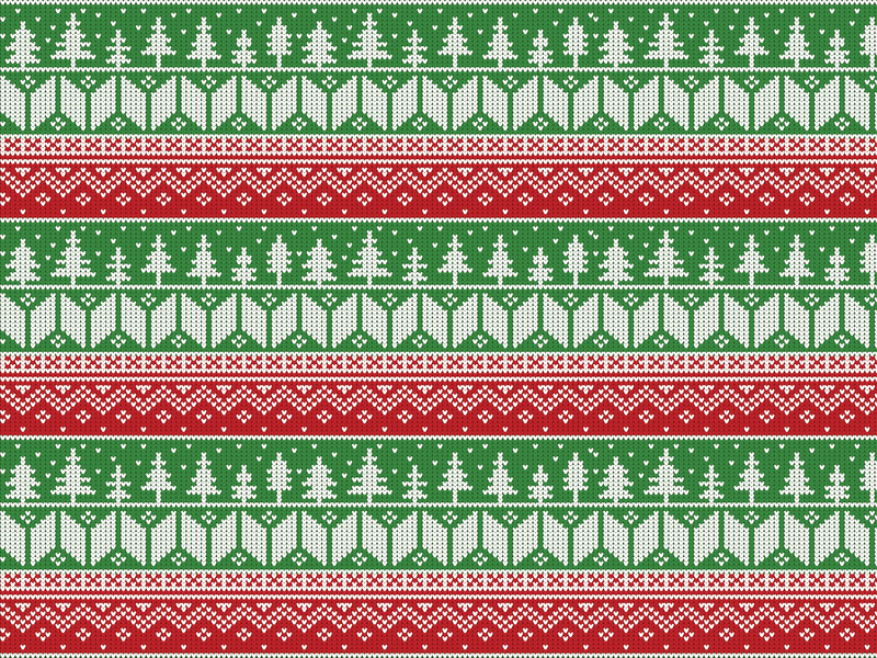 My Favorite Holiday trees holiday holidays knit pattern sweater pattern sweater red and green christmas jumper pattern jumper pattern christmas pattern pattern christmas vector design designchallenge adobe illustration adobe illustrator adobe design vector illustration