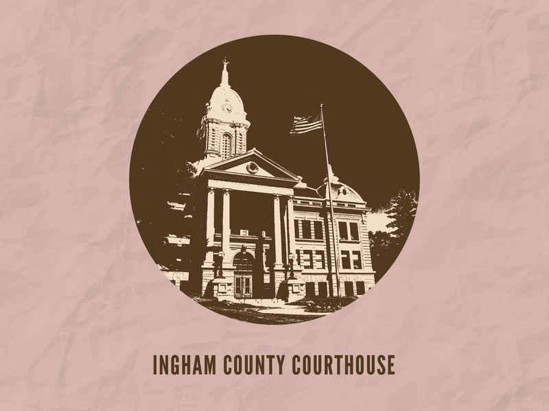 Ingham County Courthouse pure michigan michigan county town hometown ingham county courthouse courthouse paper paper textures paper texture texture threshold adobe photoshop adobe illustrator design vector