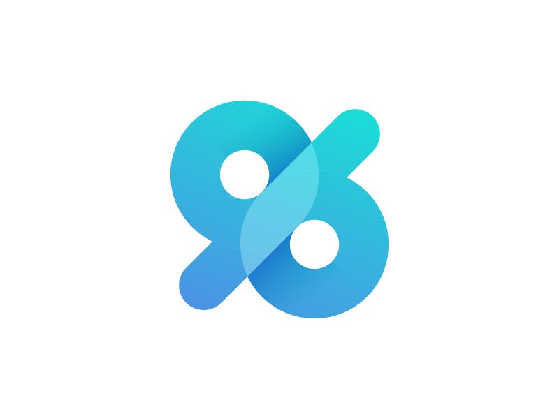 96 branding creativity gradient design vector pure idea inspiration concept simple logo