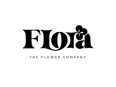 Flora - Weekly Warmup - Negative Space Logo weekly warm-up weeklywarmup design illustration logo adobe illustrator