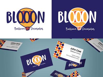 Blooon - Balloon Decoration Company branding balloon hotairballoon dailylogochallenge logo illustration adobe illustrator