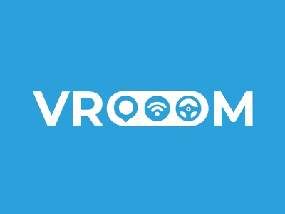 Vroom - Driverless Car Logo driveless car branding illustration logo dailylogochallenge adobe illustrator
