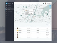 Driver Fleet Management ERP Software Webapp Map View