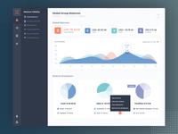 B2B Fintech SAAS webapp dashboard