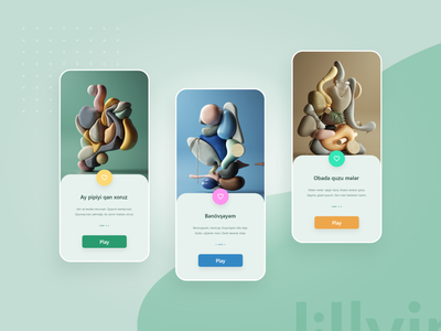 UI UX 3D app design green blue yellow uiux dizayn product page uiux play now book app design colorful app mobile app design 3d app design uiux app design