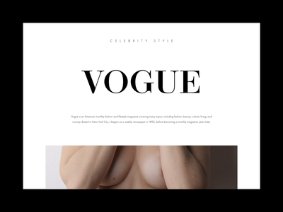 Vogue Magazine kit landing page ui ux webdesign webdesign ux ui ui ux web design concept ecommerce shop nudity fashion brand magazine cover vogue
