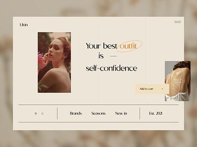 Fashion Art Web design ui landing page ui web design nude art design ecommerce shopping ecommerce web art fashion fashion web design