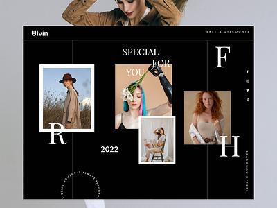 UI Fashion Landing page - Daily inspiration dark mode webdesign cart screen cart page uiux ecommerce ui landing page uiux fashion landing