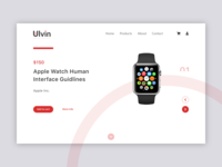 iWatch E-commerce Landing Page