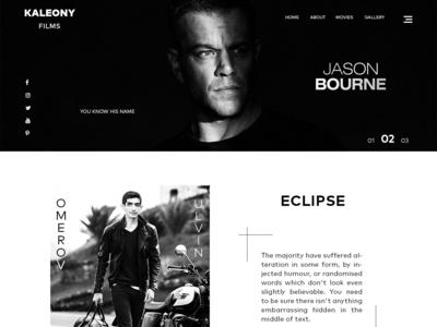 UI/UX Movie Website Home Page Design