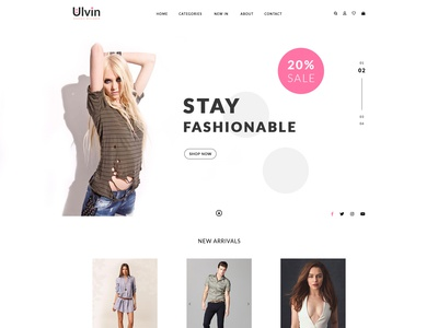 UI UX E-commerce Shopping Home Page