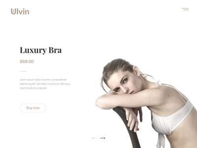 Luxury Bra UI UX Landing Page Web Design