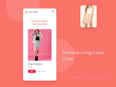 E-commerce Summer Fashion - Pantone Living Coral Color