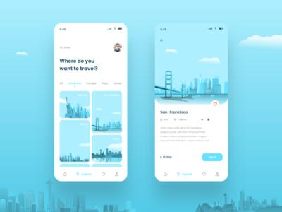 UI UX Travel Trip App 2020 Trend