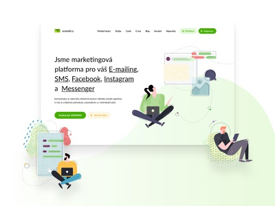 Ecomail agency czechdesign website czech mailing mailbox mailchimp illustrations ui design sdmk ecomail emailing