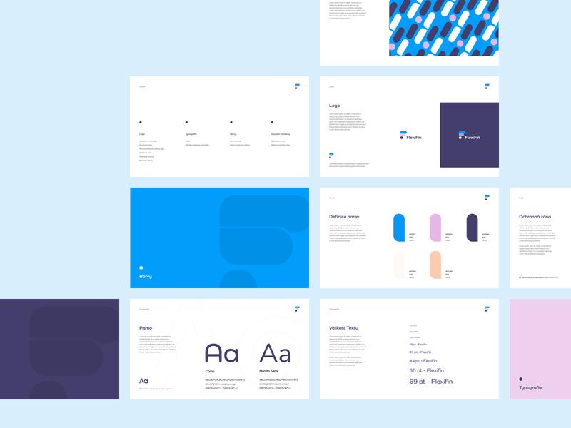 Flexifin Corporate Identity modern minimal czechdesign agency vector logodesign identity branding visual corporate sdmk czech logo branding design identity