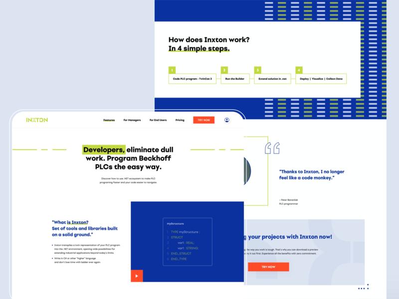 Inxton agency artdirection website startup software api code pce minimalism studio czechia slovakia graphic ux ui web design