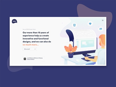 SDMK Design Studio minimal illustration jakubsodomka czech prague studio agency ux ui website design sdmk