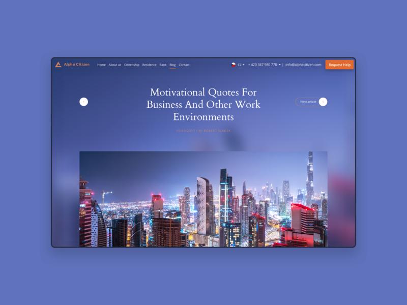 Alpha Citizen emirates arabic investment ux design ui company citizen website