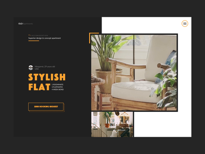 OLDApartments artdirection website studio czechdesign sdmk retro minimal design ux ui apartments