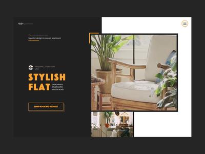 OLDApartments artdirection website studio czechdesign sdmk retro minimal design ux ui apartments