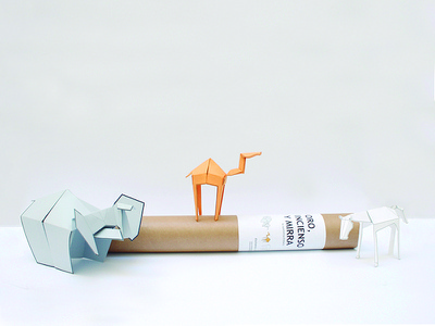 OYIM kit cut horse elephant camel paper graphicdesign