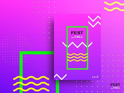 Festifall festival ux ui web uiux minimal 2d design poster pink grandient behance
