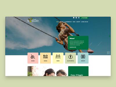 Il Faggio \ Website social ui web design web redesign desktop website