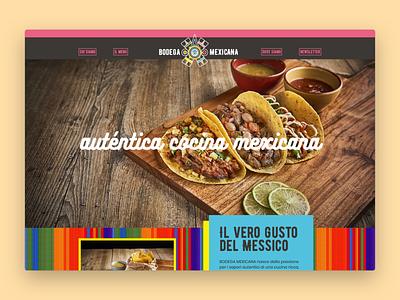 Bodega Mexicana \ Website burrito taco menu mexican restaurant mexico web design web ui website