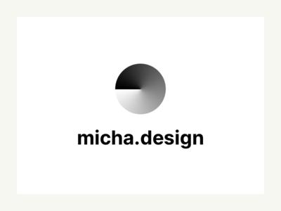 micha.design icon and font pareto principle logo interui portfolio sketch