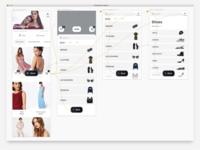 Floating Menu ux design ecommerce burger menu screenshot sketch prototype fashion app