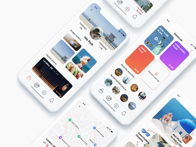 Travel APP mobile UI