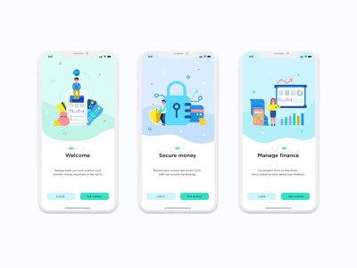 Tutorial screen for mobile banking mobile bank bank app money ui bank bank ui finance ui ui graphic ui illustration illustration app mobile mobile app mobile ui ui design app design uiux ux ui tutorial screen welcome screen