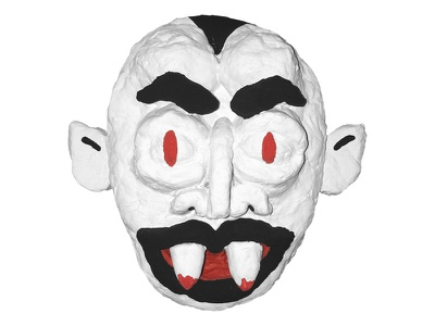 Paper Mache Vampire Face