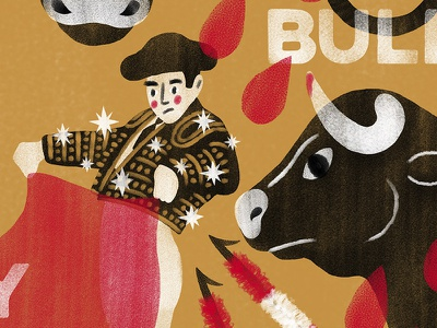 Grab the Bull by the Horns illustration torero toro bull corrida matador bullfighter bullfight