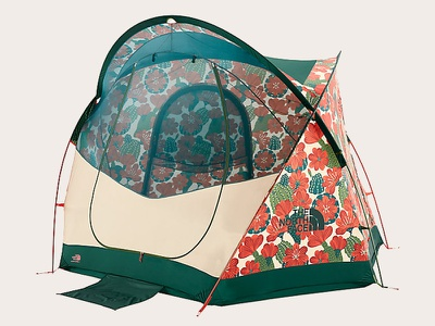The North Face Tent tent print and pattern print textile design surface design