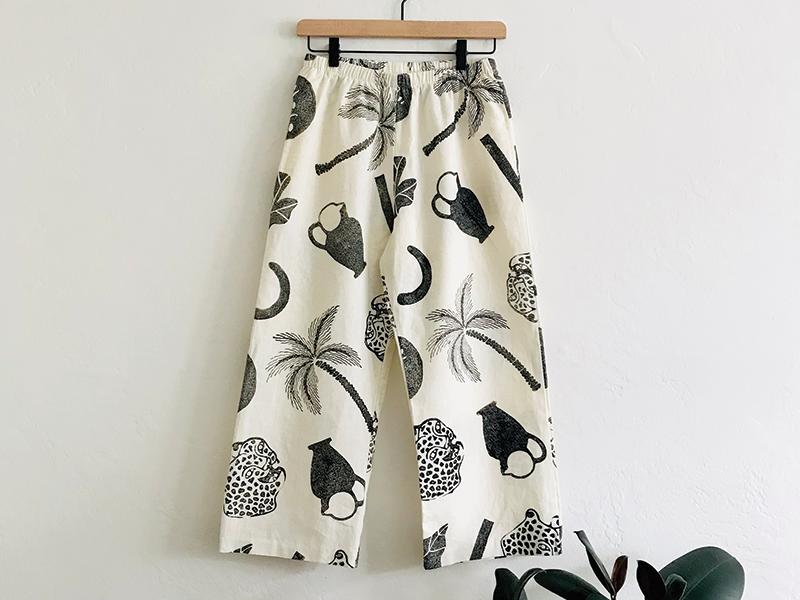 Dioscuri Pants block printing apparel print design textile illustration surface graphic print design
