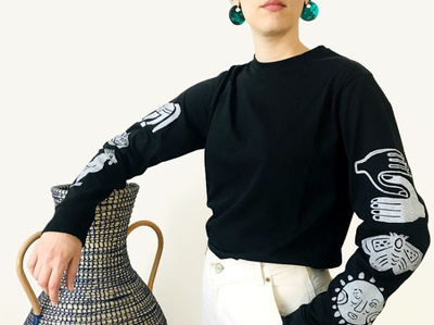 Dioscuri Onyx Block Printed Long Sleeve
