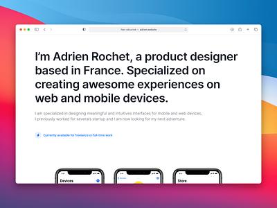 Portfolio 2020 web design portfolio