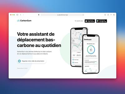 CarbonSum - Website web design web design website