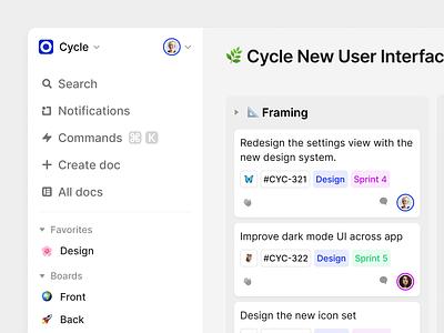 Kanban product cycle app kanban light ux web design ui