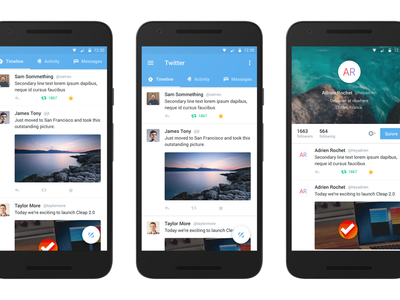 Twitter for Android ui material redesign design android twitter