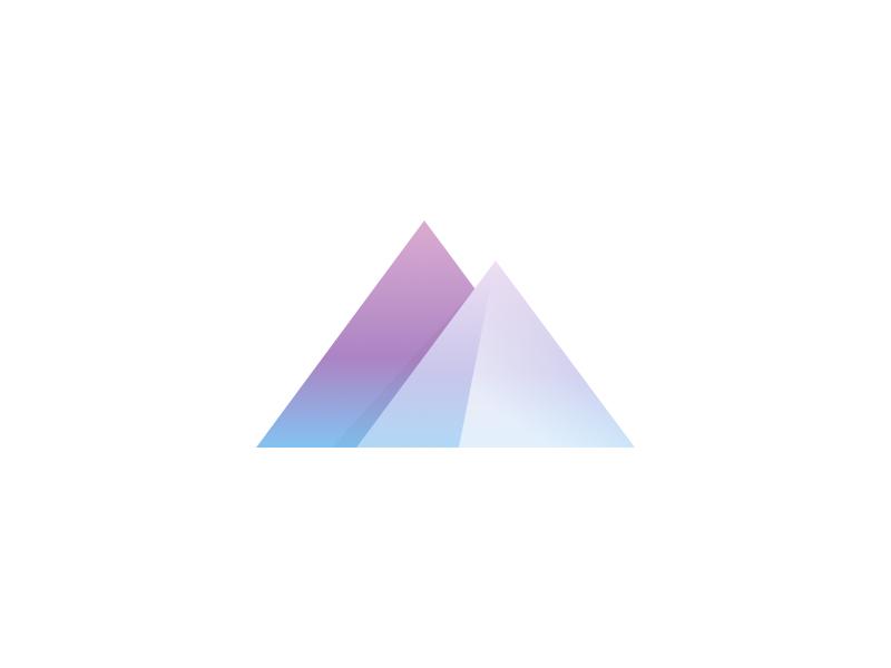Mountains logo illustration logotype mountains logo