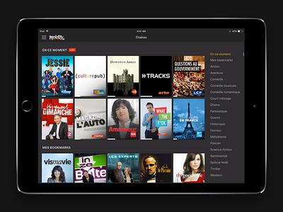 Molotov for iPad ux ui show tv design ipad