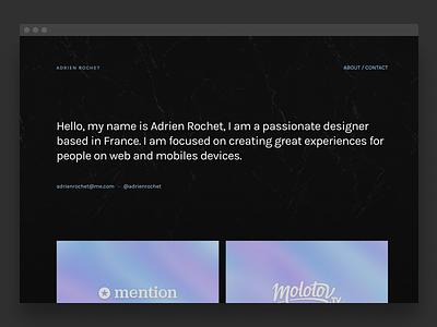New portfolio 🚀 minimalism minimalist simple black design portfolio website