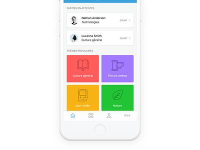 TapQuizz - Home iphone ux quizz design ui app ios