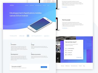 Agency website site web agency ui ux design