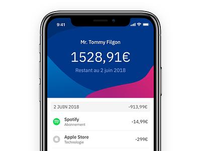 Bank App ux ui design ios app bank