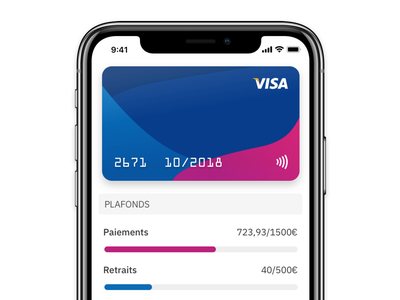 My Card design app ios bank iphone ux ui card