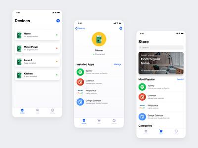 Devices minimalist ux iphone ios app design ui